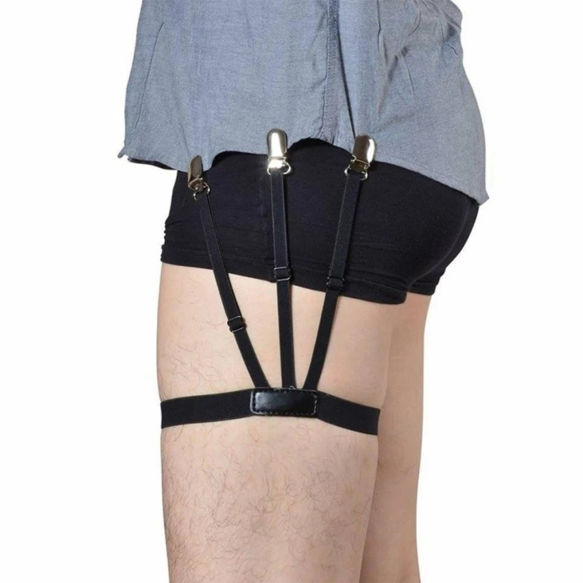 Nice Unisex Business Shirt Stays Garters Leg Belt Suspenders Men Braces For Shirt Holder Tirantes Crease-resistance Sock Stirrup Superior Materials Men's Accessories