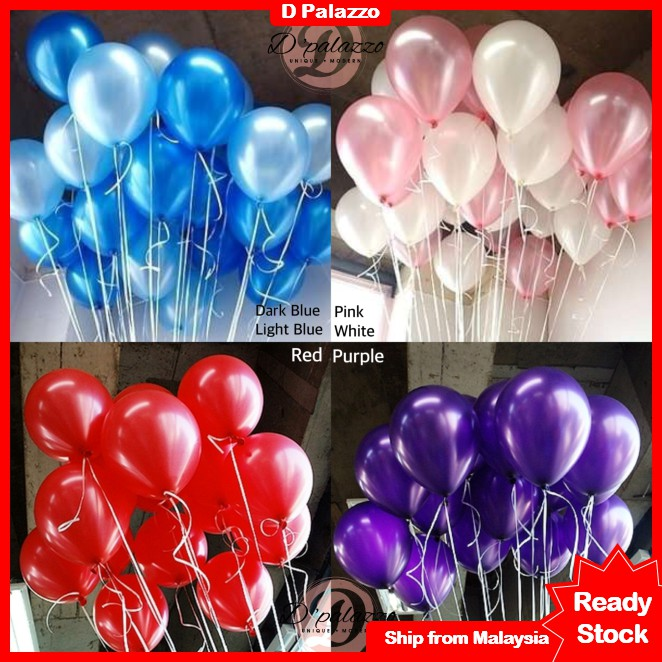 """12/"""" PEARL SHINE LATEX THEME RED,WHITE /& BLACK PARTY BALLOONS 20-50 PACK"""
