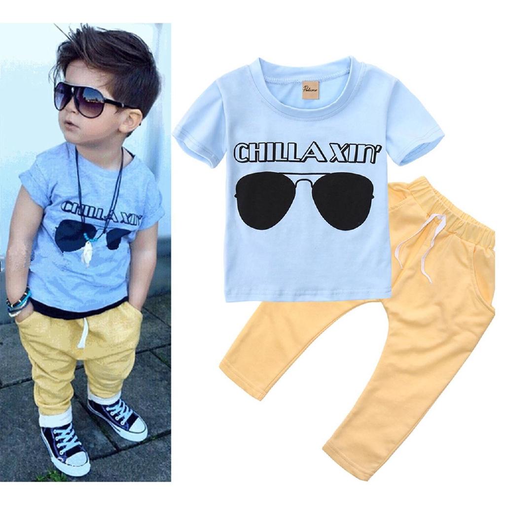 2PCS Newborn Toddler Infant Kid Baby Boy/'s Clothes T-shirt Tops+Pants Outfit Set