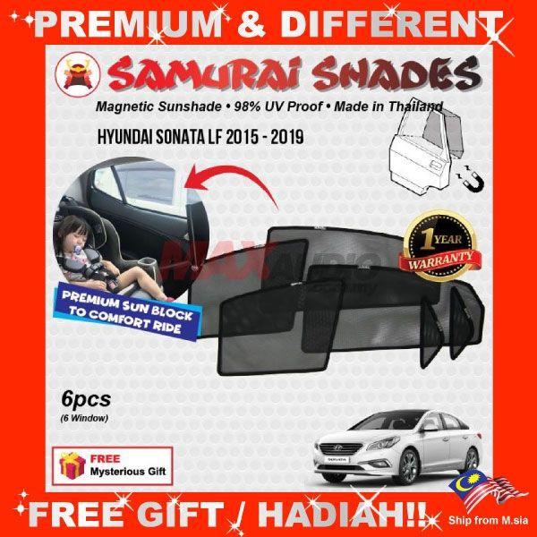 [FREE Gift] HYUNDAI SONATA LF 2015 - 2018 SAMURAI FULLY MAGNETIC SUNSHADE