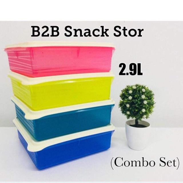 Tupperware B2B Snack Stor 2.9L x 4pcs