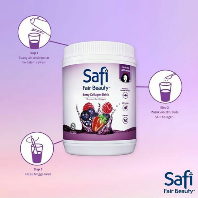 Safi Fair Beauty Berry Collagen Drink