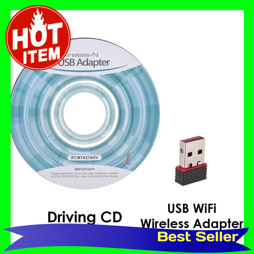 MT7601 USB Receiver Mini Wireless Adapter 150MBPS 2.4GHZ 802.11N 150 Network LAN with Driving Card for Apple Macbook Pr