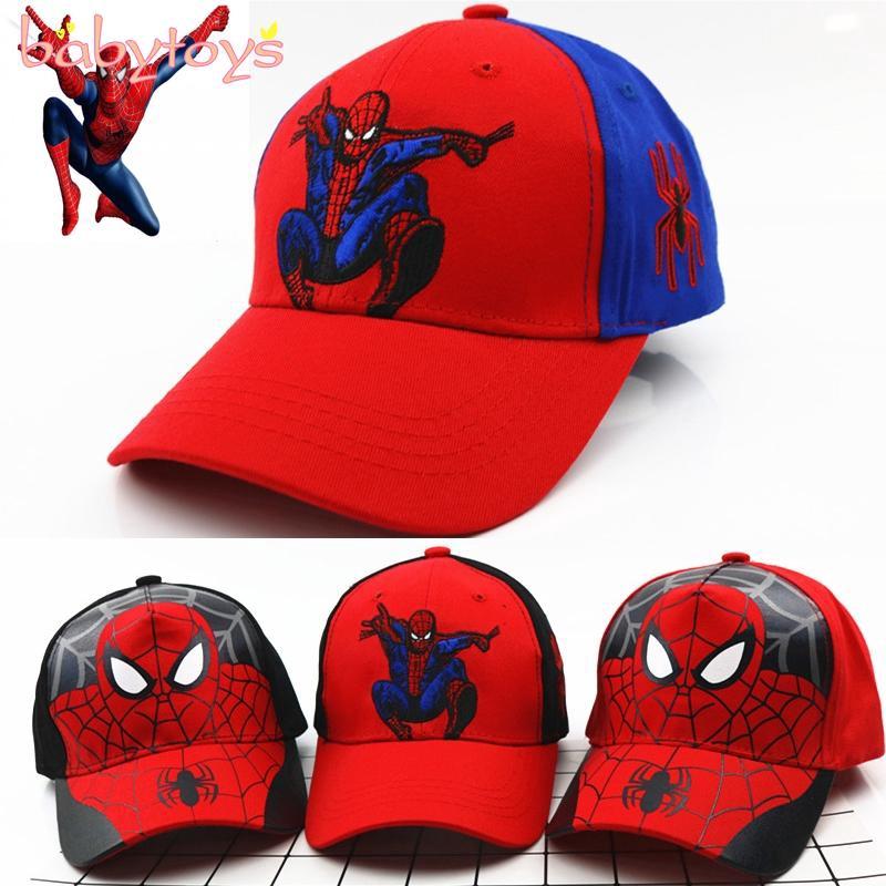 New Spring Summer Children/'s Hat Embroidery Spider-Man Boys Baseball Cap Sun Hat