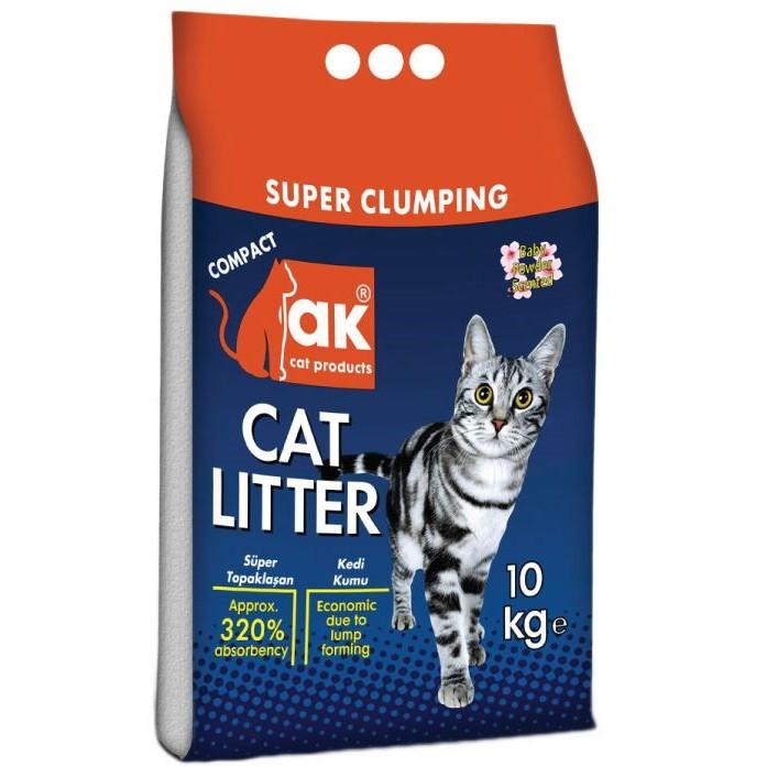 AK Super Premium Cat Litter from Turkey 10kg - Top Quality, No Smell of Pee & Feces |AK Pasir Kucing Premium dari Turkey