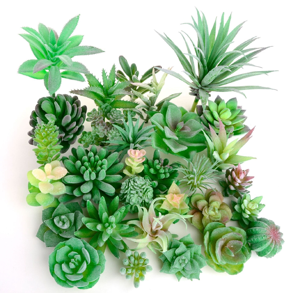 Green Flocking Artificial Succulents Plants Home Garden Decoration Flower Arrangement Bathroom Accessories Artificial Shopee Malaysia