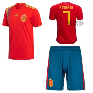 84c9123bf ... 2018 World Cup Spain National Team NO.7 A.Morata Home kit away kit  Football Jersey shirts. like  0