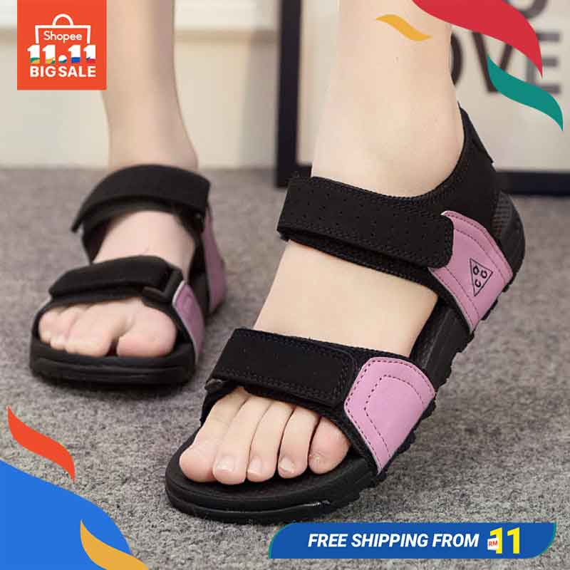Women's beach shoes sandals for Female Students Shoes | Shopee Malaysia
