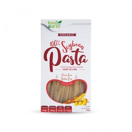 Love Earth Organic Soybean Pasta Futtuccine 200g 乐儿有机黄豆意大利宽面条 200公克