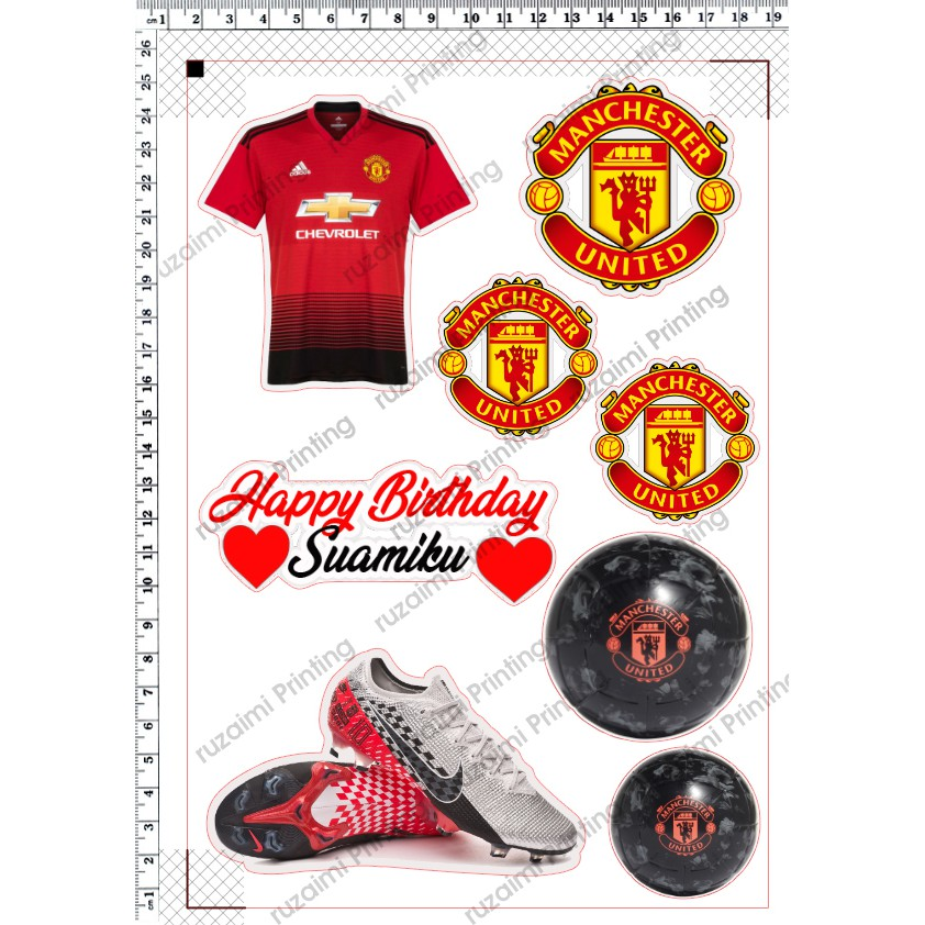 Download Manchester United Cake Topper