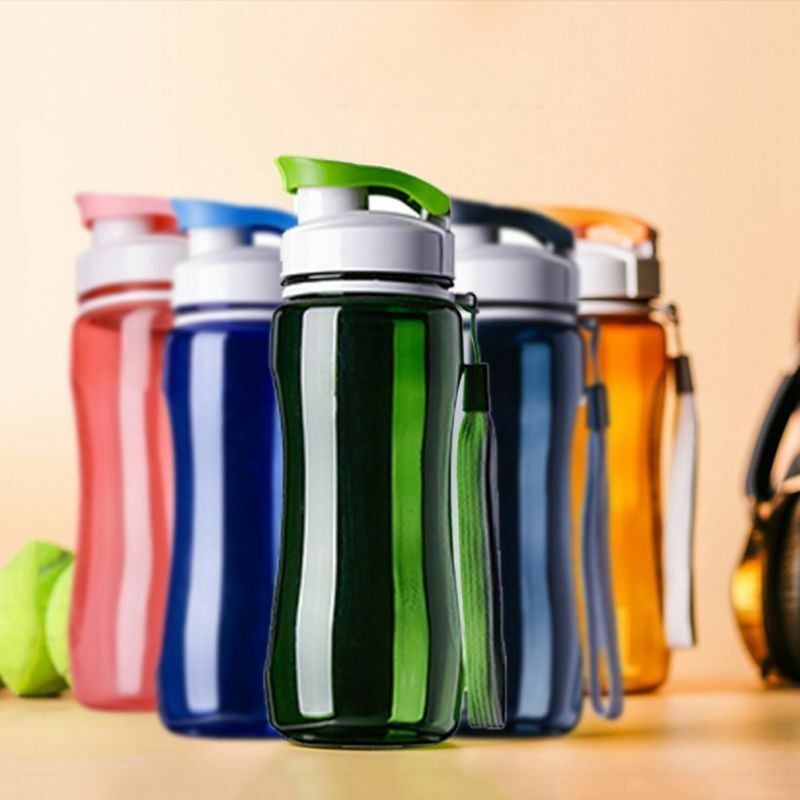 700ml Drink Bottle with Leak Proof Lid Flip Up Straw Sports Hiking School