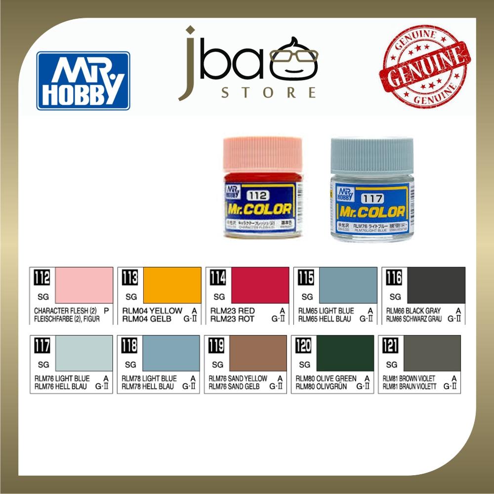 Mr. Hobby Mr.Color C112-C121 10ml Color Paint Air Brush Gundam Package Set