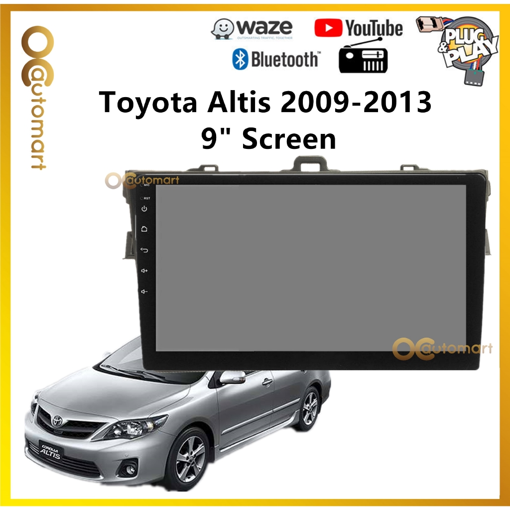 """Toyota Altis 2008-2013 Big Screen 9"""" Plug and Play OEM Android Player Car Stereo With WIFI Video Player/TouchScreen"""