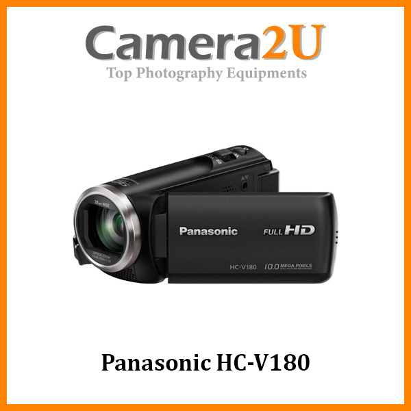 Panasonic HC-V180 Full HD Video Camcorder Handycam +16GB +Bag (Import)