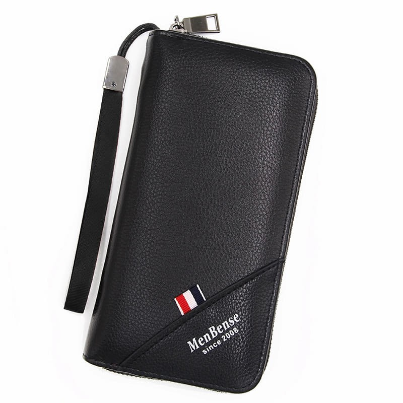 6520a016ec9 2019 Korean Series Men's Leather Clutch Bag Handcarry Long Wallet Mobile  Purse
