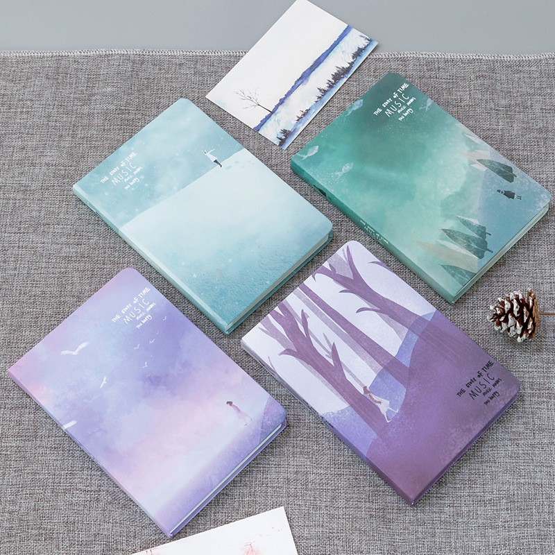 Literary Color Pages Notebook Creative Journal School Supplies