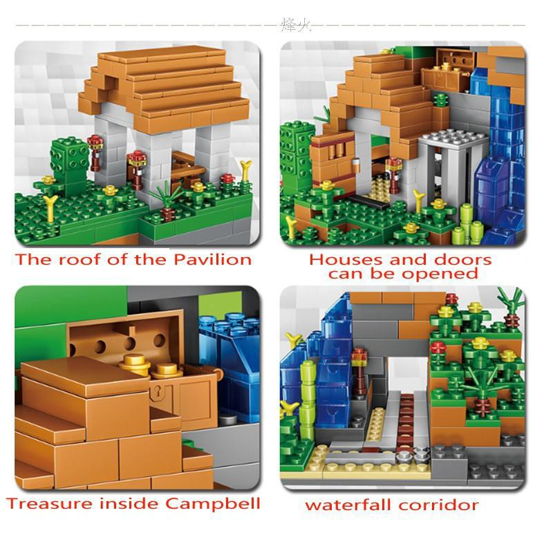 Toys & Hobbies Lower Price with Huiqibao Toys My World Diy Tree House Building Blocks Steve Figures Bricks For Children Compatible Minecrafted City