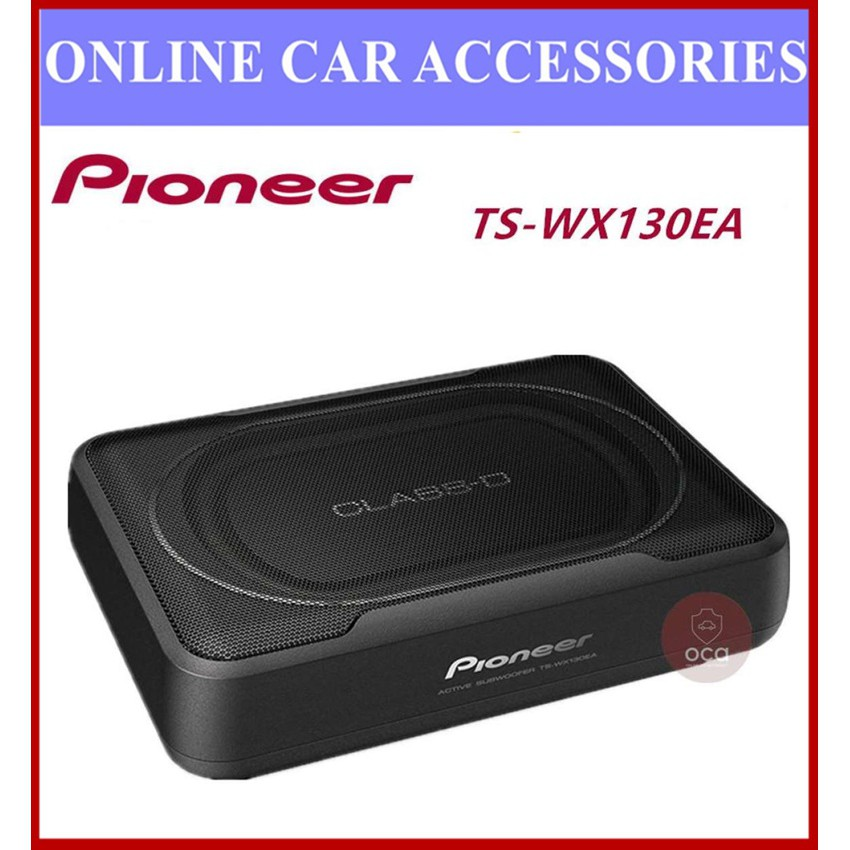 Pioneer TS-WX130EA Slim 160 Watts Under Seat Active Subwoofer without Bass Remote RMS 50W