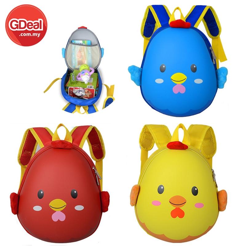 Waterproof Chick Cartoon Backpack Children Backpacks Kids Kindergarten Small School Bag