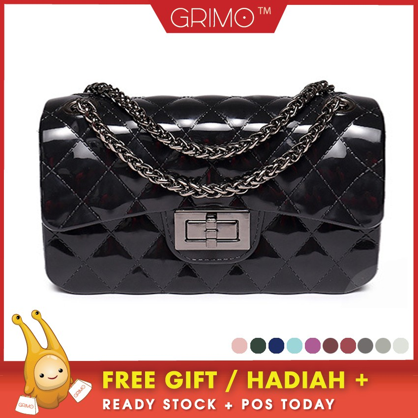 Ready Stocks Jelly ToyBoy PVC Shoulder Bag Toy Boy Chain Sling Bag Quilted   a02a2aba48