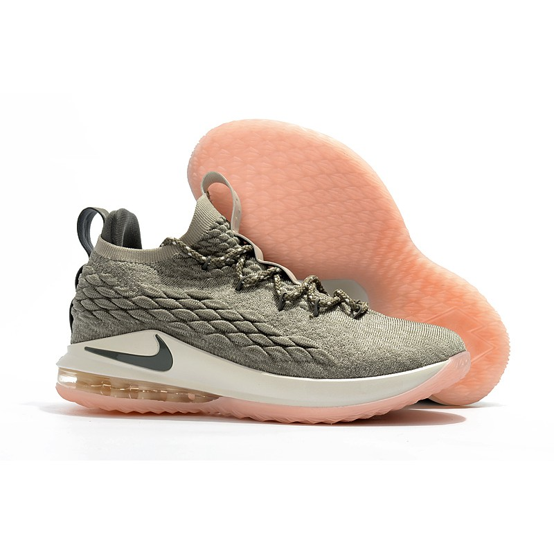Nike Men's LeBron 15 Low Basketball Shoes James XV EP LBJ15 Sneakers Gray green