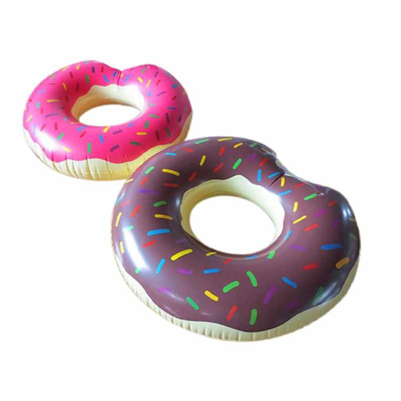 Swimming Ring Inflatable Donut Pool Raft Summer Swimming Lounge Float Pool Party Toys for Adults and Kids (Multicolor)