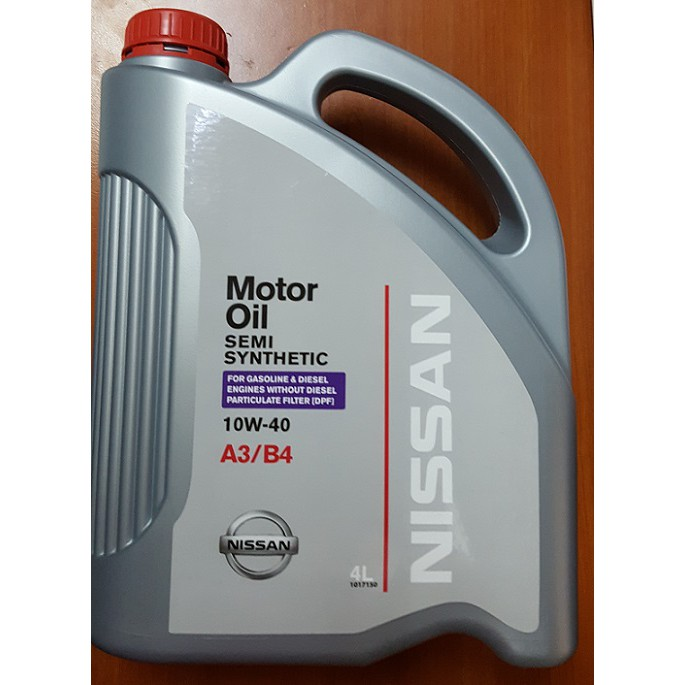 Nissan Semi Synthetic 10W-40 Engine Oil 4L A3/B4