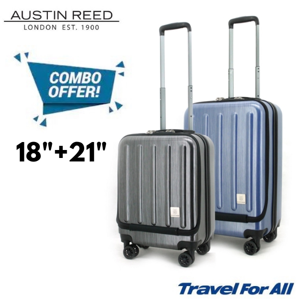 Austin Reed Luggage Pc Bundle Set Black Blue 18 21 Shopee Malaysia