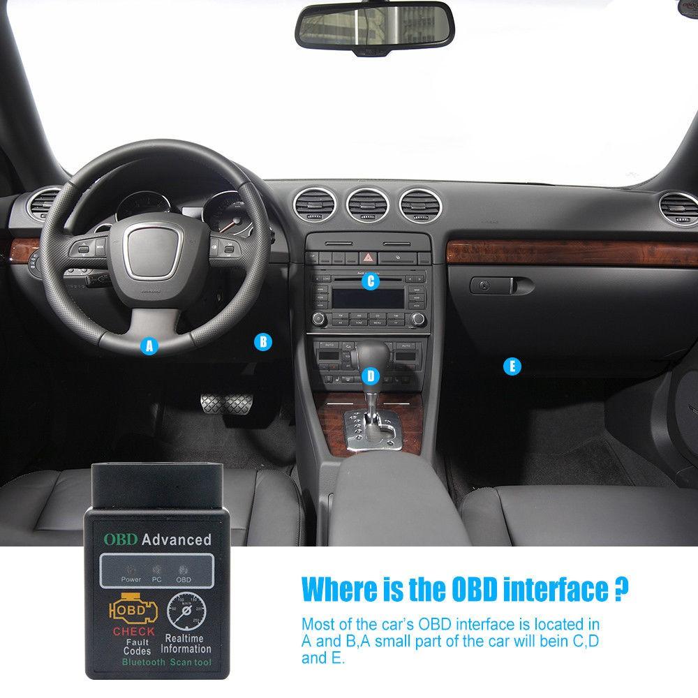 OBD2 ELM327 Car Scanner V2 1 Bluetooth Android Torque Auto Diagnostic Scan  Tool