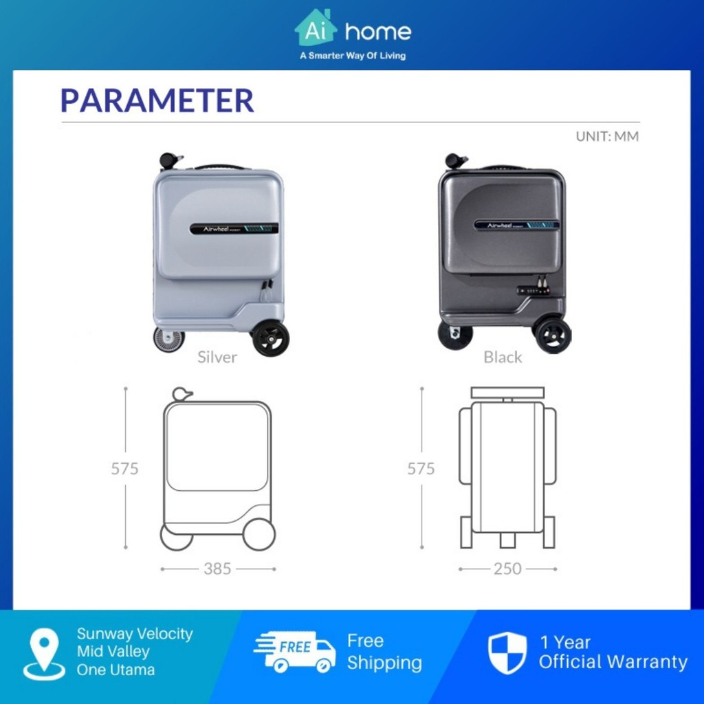 """Airwheel SE3 Mini Smart Riding Suitcase 26L - Towing 