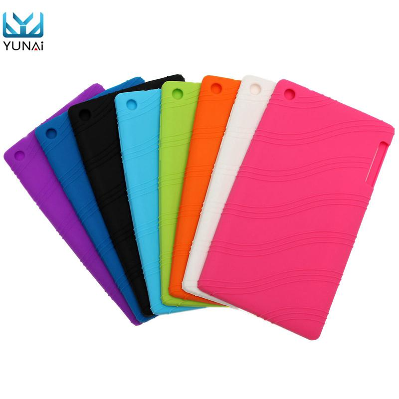 buy popular 49261 c6cfe Soft Slim Silicone Cover Skin For Lenovo Tab 2 A7-30 High Quality ...