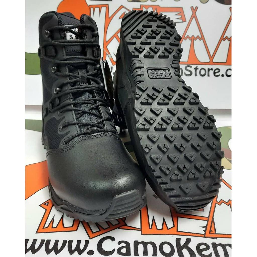 "Original SWAT Alpha Fury 8"" Side Zip Polishable Toe, Kasut Operasi Polis Army Military, 1 Year Warranty - READ STOCK"