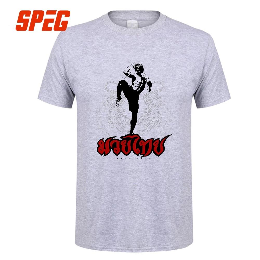 0ba82bae Tee Shirts Muay Thai Kick Thailand Martial Art Logo Badge Men Pre-Cotton T- Shirt Crazy Ment Shirt De | Shopee Malaysia