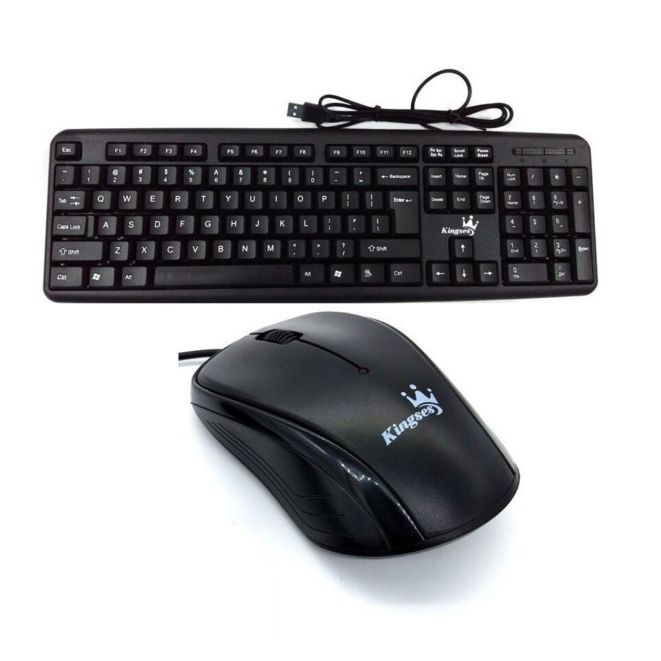 Official Kingses KTL-PX502  Combos set Ergonomic Wired USB Keyboard & Mouse Water-poof Design, the drainage