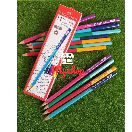 Faber-Castell 311808 Tri-Writing 2B Pencil 12pcs/box