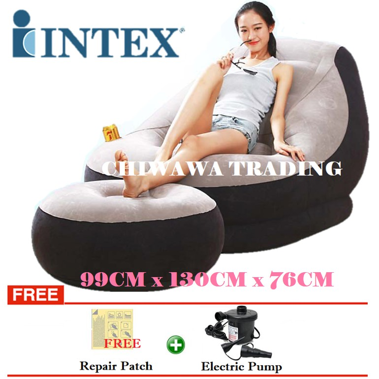 Awesome Promotion Intex Inflatable Relaxing Air Sofa Seat Chair Foot Rest Lounge Onthecornerstone Fun Painted Chair Ideas Images Onthecornerstoneorg
