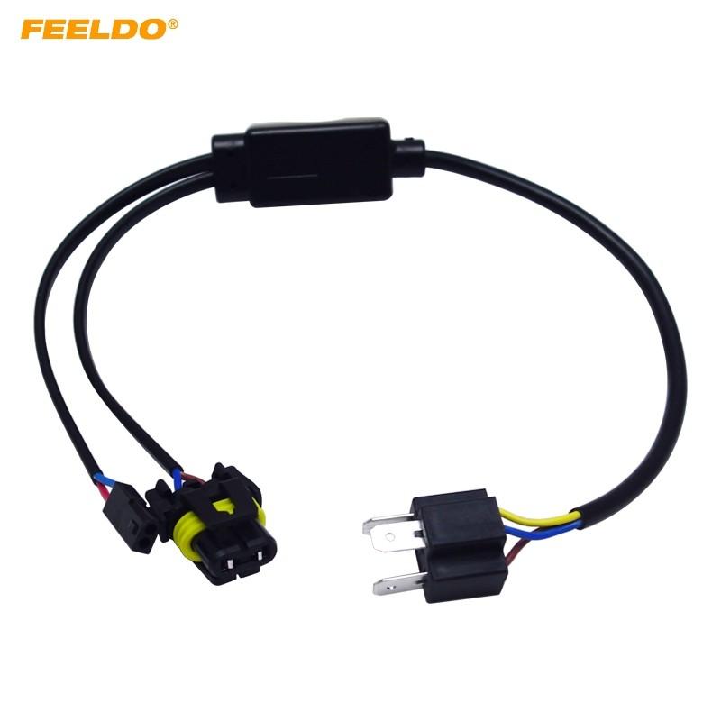 Simplified H4/9003/HB2 Hi/Lo Bi-Xenon HID Bulbs Relay Harness Wiring on