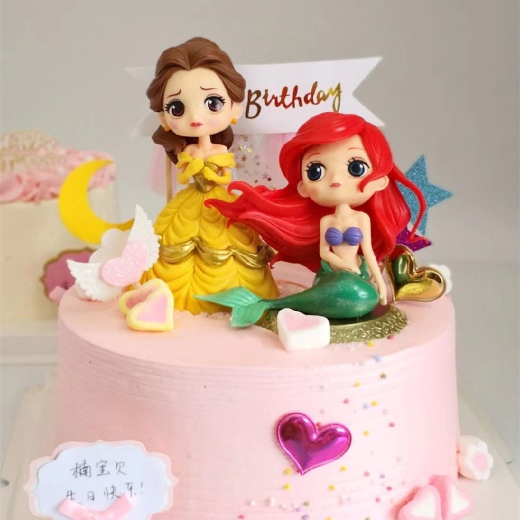 Fabulous Mermaid Belle Snow White Rapunzel Mermaid Cinderella Doll Cake Funny Birthday Cards Online Overcheapnameinfo