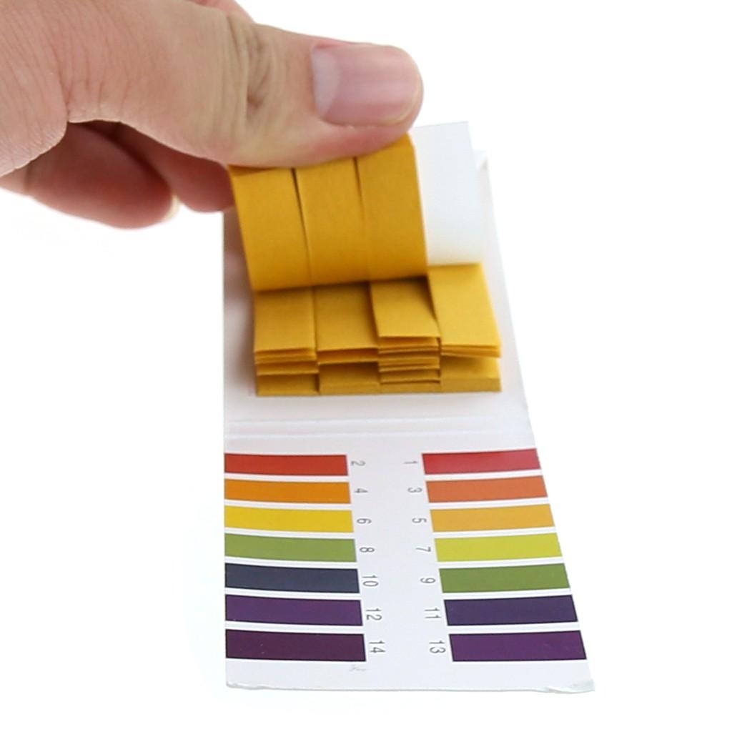 แผ่นกระดาษลิตมัส อุปกรณ์ทดสอบค่า PH สำหรับงานวิทยาศาสตร์ 80