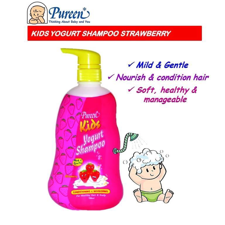 Pureen Kids Yogurt Shampoo 750ml (Strawberry)