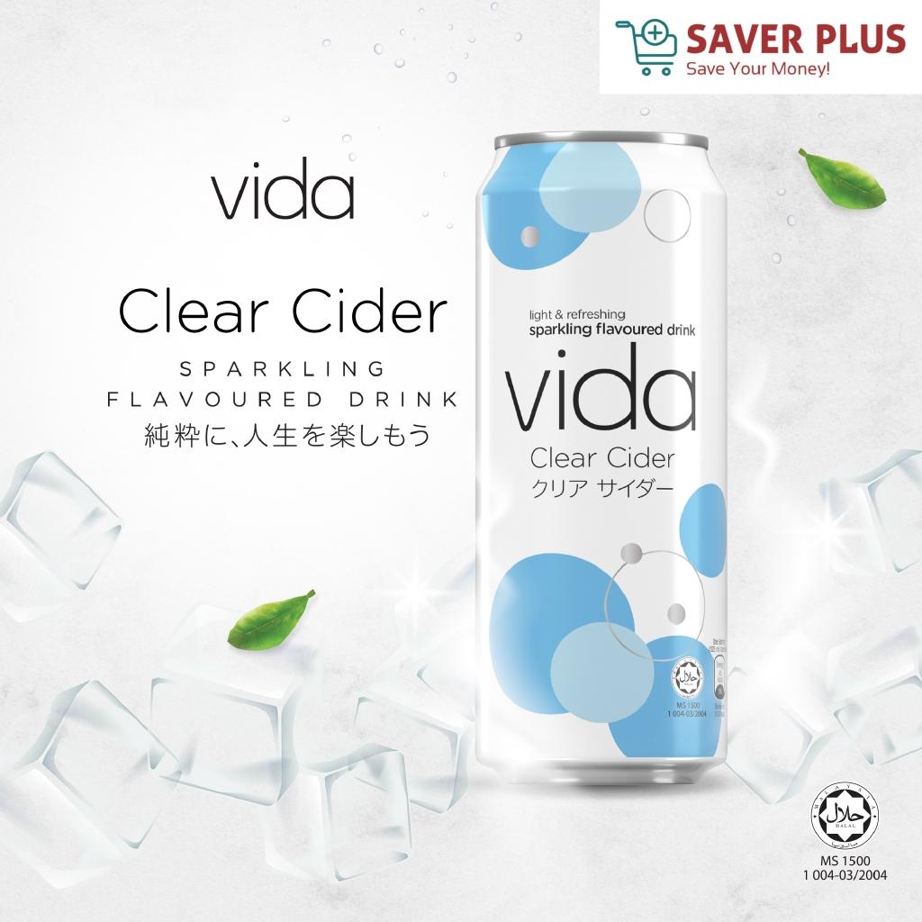 Vida sparkling flavoured drink (Clear Cider / Clear Lemon) 325ml