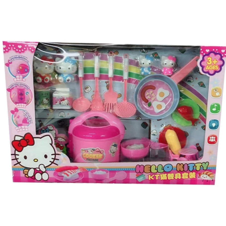 HELLO KITTY SIMULATED TABLEWARE CHILDREN'S KITCHEN TOY INDUCTION SOFT LIGHTING SWITCH BUTTON TOUCH SENSOR