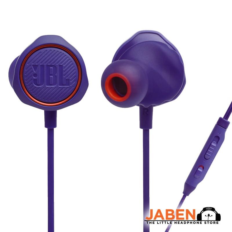 JBL Quantum 50 Volume Control Mute Mic Remote Wired Gaming In-Ear Earphones [Jaben]