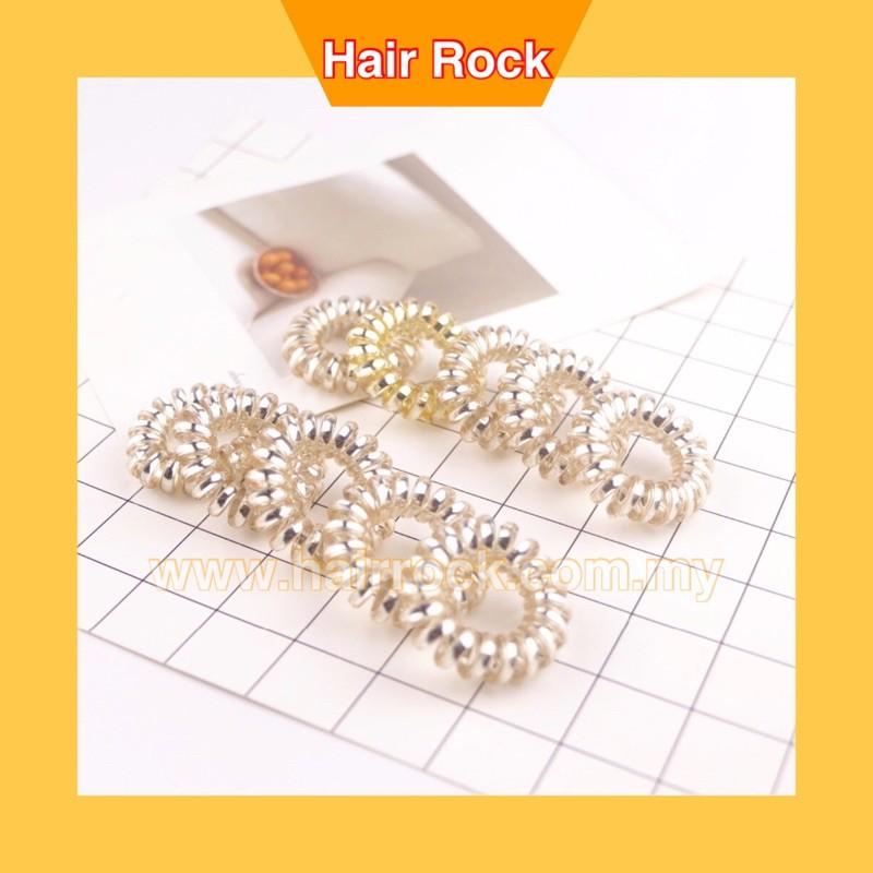 Spiral Hair Ties, Coil Hair Ties, Phone Cord Hair Ties - 3Pcs