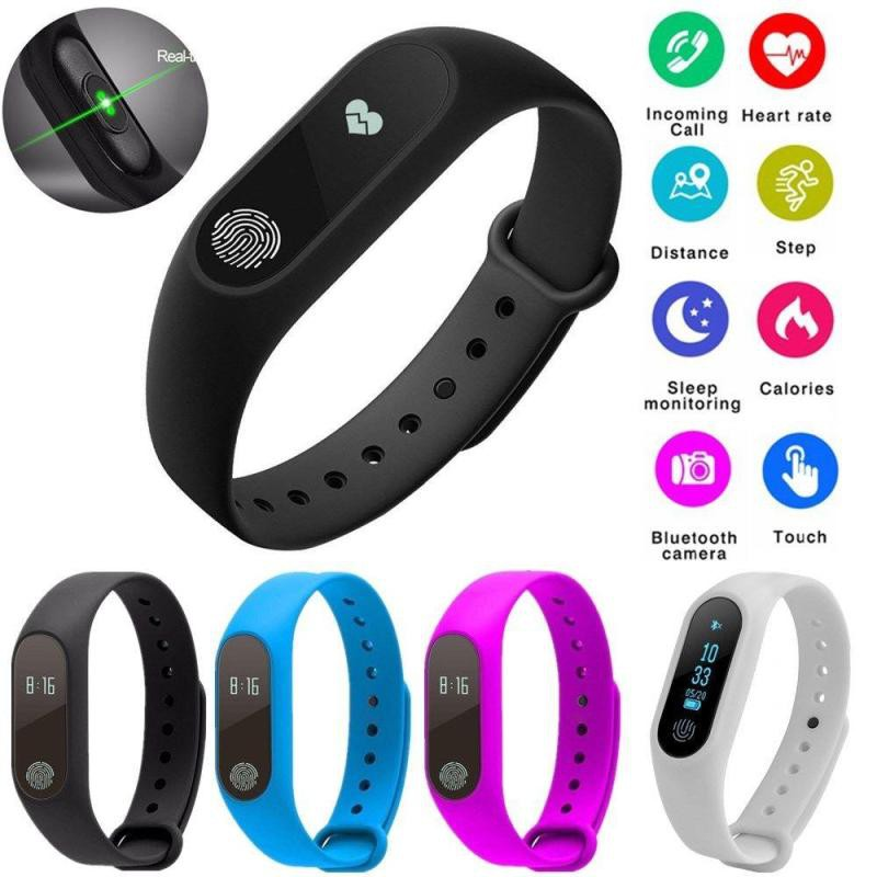 【Free Gift】IP67 Heart Rate Smart Watch Band Anti Lost Pedometer Bluetooth  Smart Bracelet