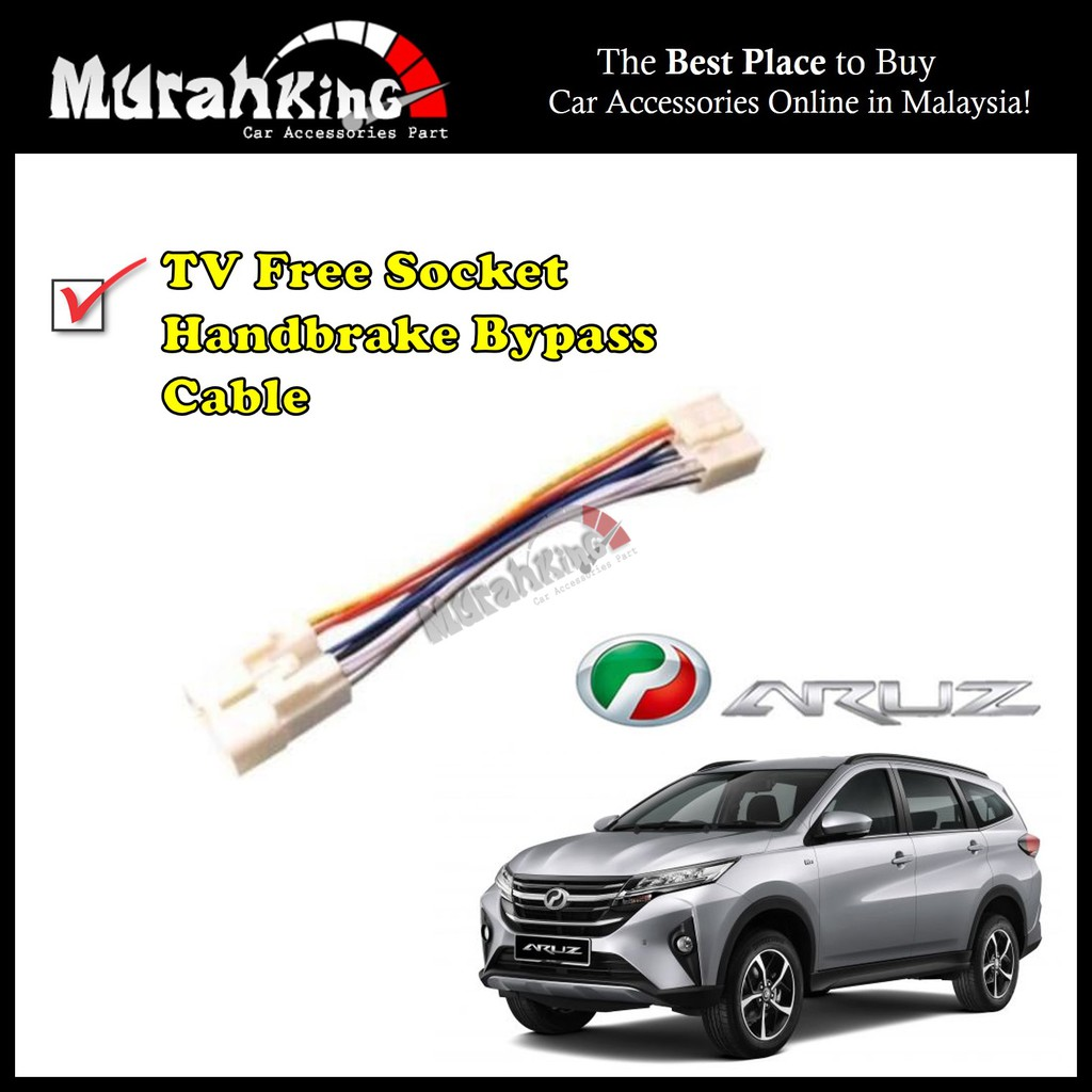 Perodua ARUZ ByPass Car Cable Video In Motion TV Free Socket
