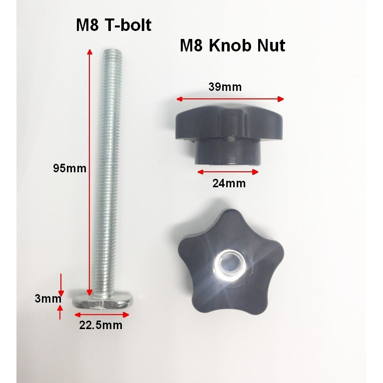 DIY Hold Down Clamp for T-Slot T-Track Woodworking (T-bolt and Knob