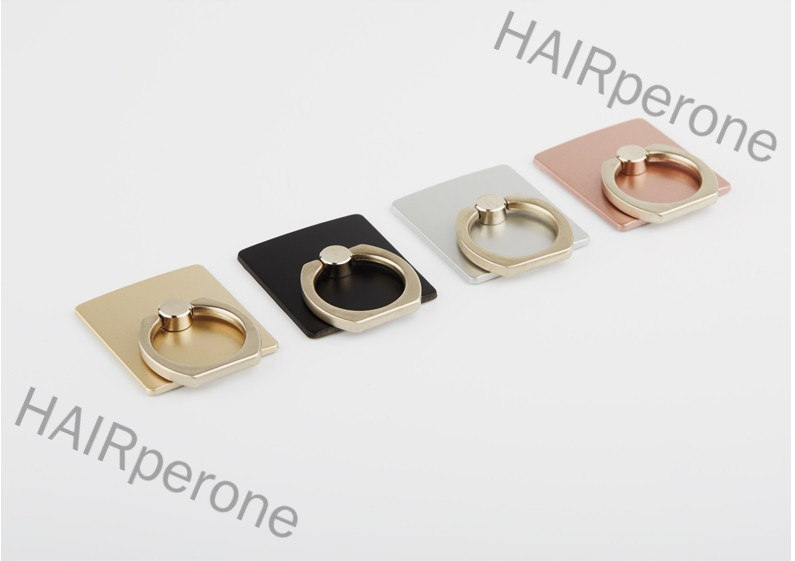 HAIRperone Portable Universal Metal Finger Ring Phone Holder 360° Rotating Bracket for iPhone Samsung