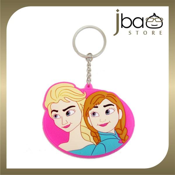 Frozen Elsa Anna Silicone Key Chain  (Pink)