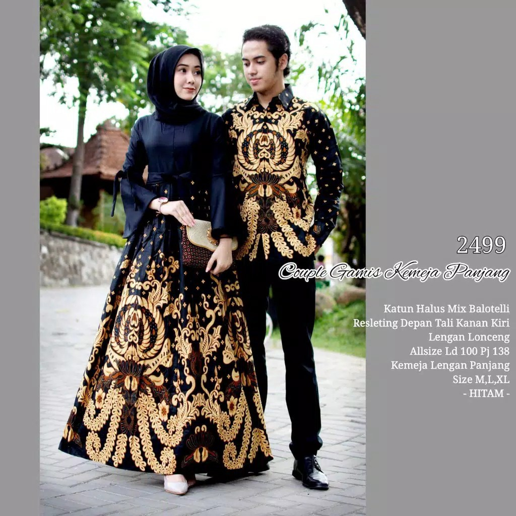 Pre order Muslimah 8 set couple batik top long sleeve maxi dress